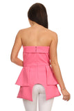 Pink Peplum Tube Top-4