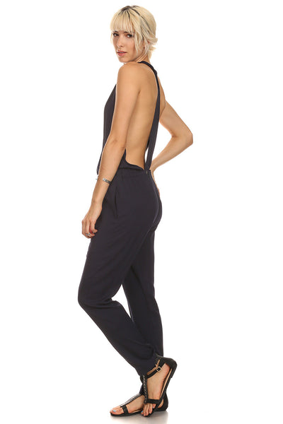 Navy Sexy Back Jumpsuit-3