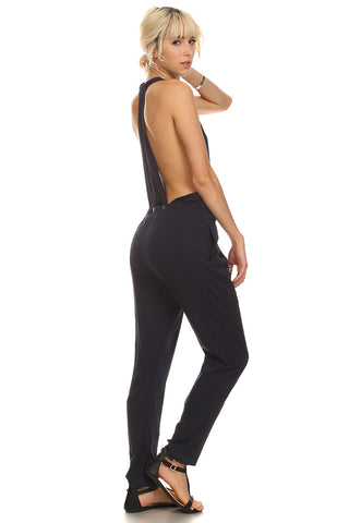 Navy Sexy Back Jumpsuit-5