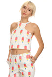 Popsicle Print Cropped Top-3