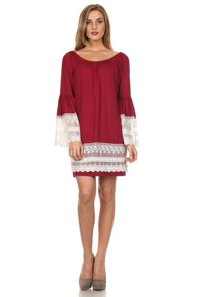 Off the Shoulder Boho Dress-2