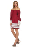 Off the Shoulder Boho Dress-4