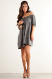 Angel Flared Oversized Fit Short Dress-12