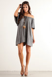 Angel Flared Oversized Fit Short Dress-13