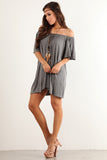Angel Flared Oversized Fit Short Dress-14