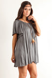 Angel Flared Oversized Fit Short Dress-20