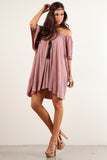 Angel Flared Oversized Fit Short Dress-3