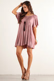 Angel Flared Oversized Fit Short Dress-6