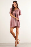 Angel Flared Oversized Fit Short Dress-7