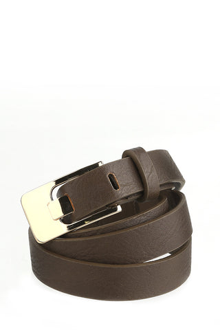 Brown Belt with Gold Buckle-1