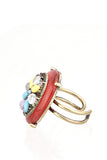 Neon Oval Fashion Ring-2