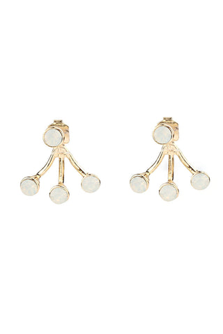 Pearl & Gold Stud Drop Fashion Earrings
