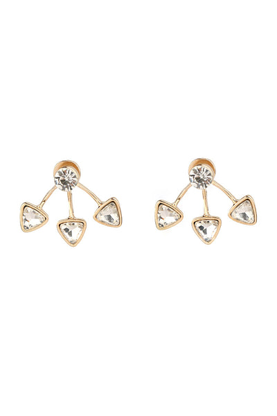 Crystal Triangle Shaped Earrings