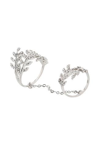 Silver Chain Double Ring