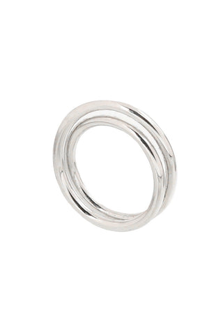 Double Illusion Silver Fashion Ring