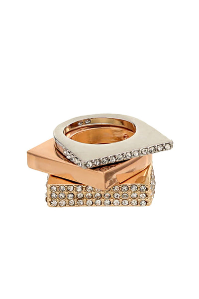 Stackable Square Fashion Ring Set
