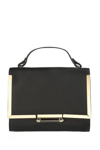 Vegan Leather Square Crossbody Handbag
