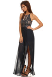 Lace Pleated Maxi Dress-2