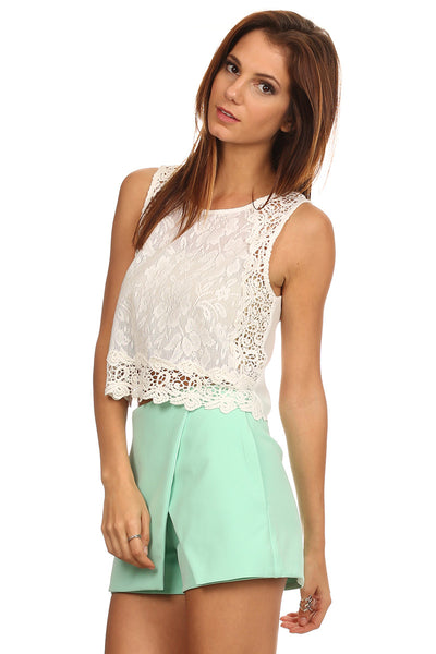 Crochet Lace Cropped Top-3