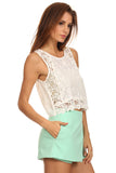 Crochet Lace Cropped Top-4