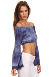 Tie Dye Off the Shoulder Cropped Top-16