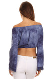 Tie Dye Off the Shoulder Cropped Top-17