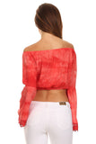 Tie Dye Off the Shoulder Cropped Top-5
