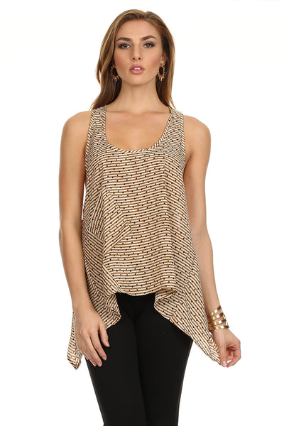 Spots and Stripes Flowy Tank-1