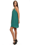Green Sleeveless Shift Dress-4