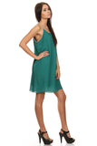 Green Sleeveless Shift Dress-2