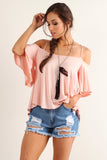 Aaron - Batwing Sleeve Off Shoulder Top