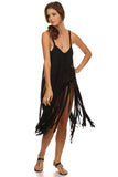 Macrame Fringe Beach Coverup Dress-10