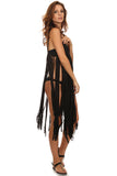 Macrame Fringe Beach Coverup Dress-9