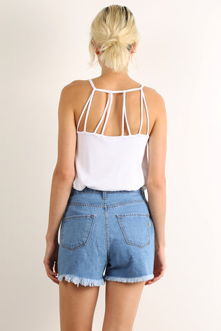 Bridgewire Back Detail Ribbed and Flared Cami Top-1