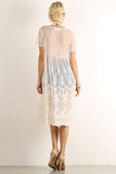 Crocheted Floral Sheer Mesh Overlay Dress-5