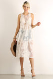Crocheted Floral Sheer Mesh Overlay Dress-2