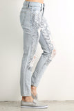 Penelope - Destroyed & Torn Sequined Jeans