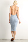 Open Back Midi Knit Dress-5