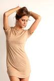 Faux Suede T-Shirt Mini Dress-10
