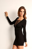 Corset Style Long Sleeve Dress-5