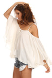 Batwing Sleeve Off Shoulder Top-3