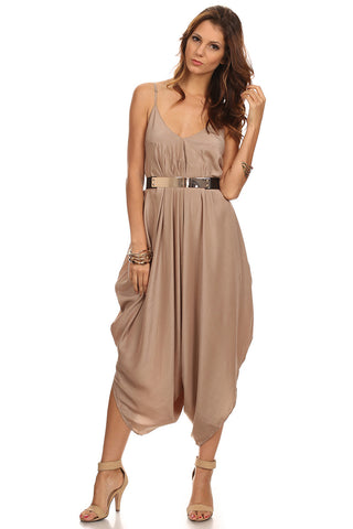 Loose Harem Jumpsuit with Belt-1
