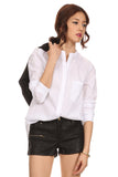 Mandarin Collar Button Down Blouse-9
