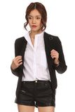 Cropped Menswear Zippered Jacket-2