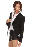 Cropped Menswear Zippered Jacket-3