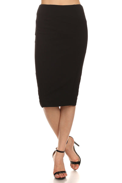 Zippered Back Pencil Skirt-7