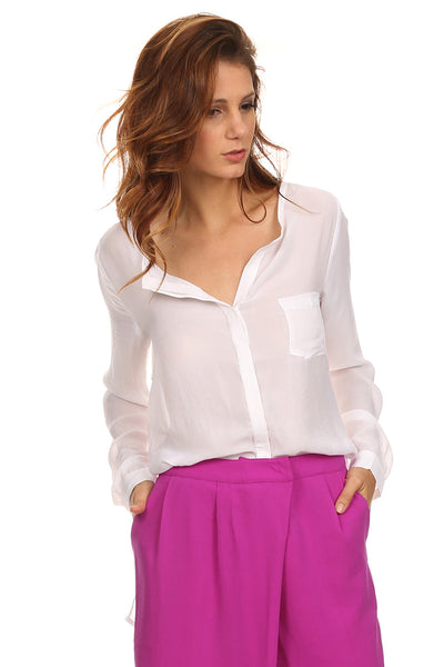 Button Down Blouse with Pocket-2