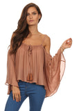 Batwing Sleeve Off Shoulder Top-8