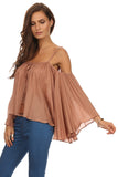 Batwing Sleeve Off Shoulder Top-9