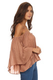 Batwing Sleeve Off Shoulder Top-10